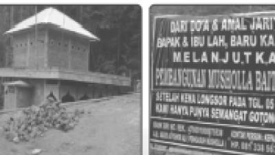 BANTUAN AMAL : Musholla Baitul Amin